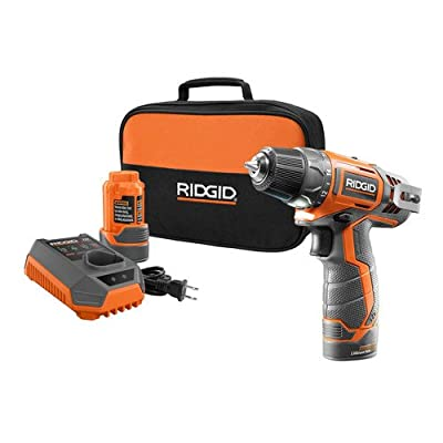 "Factory Reconditioned Ridgid ZRR82005K 12V 3/8"" Cordless Drill Driver Kit"