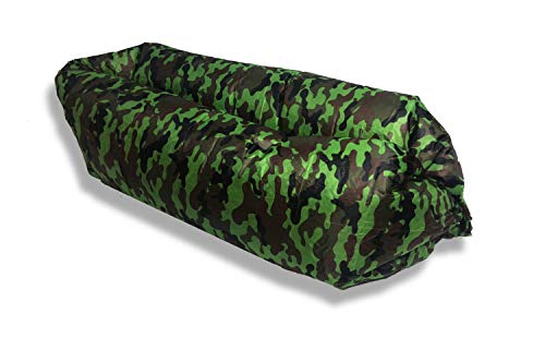 Camo Lounger - Blackout Travel Camo Inflatable Lounger Air Sofa Hammock-Portable,Water Proof& Anti-Air Leaking Design-Ideal Couch for Backyard Lakeside Beach Traveling Camping Picnics & Music Festivals