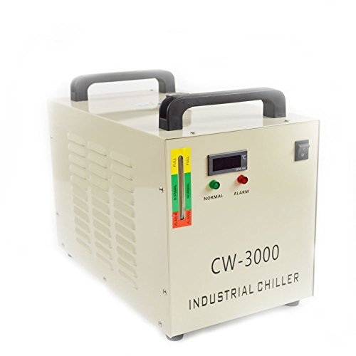 9L 110V CW-3000 Thermolysis Industrial Water Chiller for 60/80W CO2 Glass Tube by Taishi