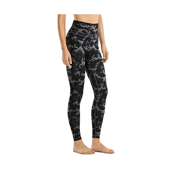 CRZ YOGA Womens Buttery Soft High Waisted Yoga Pants Full-Length Workout Leggings Naked Feeling I Camo 28 Inches