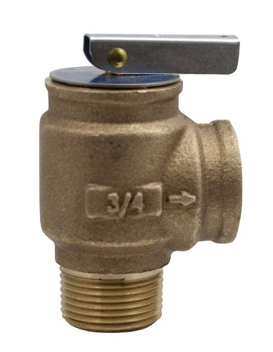 Apollo Valve 10-400 Series Bronze Safety Relief Valve, ASME Hot Water, 50 psi Set Pressure, 3/4