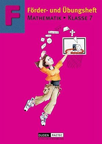 Förderhefte Mathematik: Förder- und Übungsheft Mathematik, Klasse 7, EURO