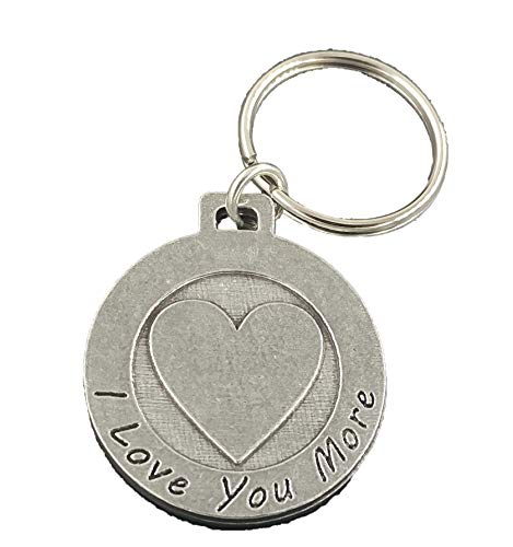 I Love You More Pewter Key Chain, Key Fob, Key Ring, Gift, A1022KC ()