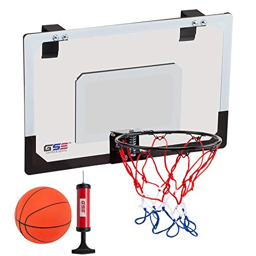 GSE Games & Sports Expert Over-The-Door Mini Basketball Hoop Backboard System with Basketball & Pump ()