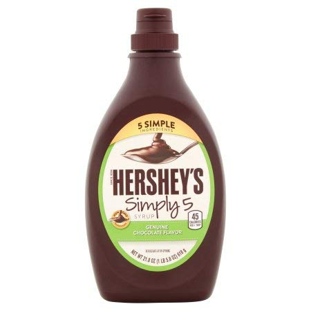 Hershey's Simple 5 Syrup Chocolate Flavor (Pack of 16)