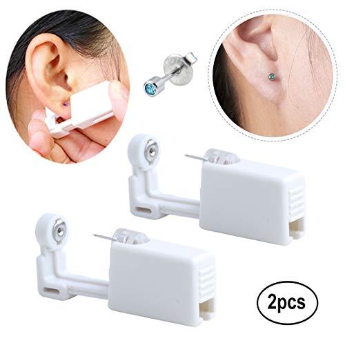 Hermosa Ear Piercing Gun Earring Disposable Ear Stud Gun Sterile No Pain Ear Piercing Gun 2 Pack (205)