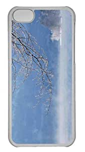 Customized iphone 5C PC Transparent Case - Winter Fog Lake Personalized Cover