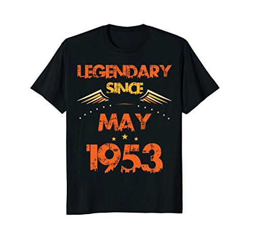 Vintage Legendary Since May 1953 65th Year 65 Birthday Shirt
