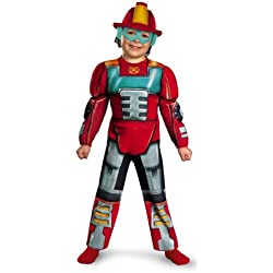 Boy's Transformers Heatwave Rescue Bots Toddler Muscle Costume, 4-6