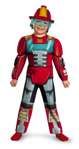 Transformers Heatwave Costume (Boy's Transformers Heatwave Rescue Bots Toddler Muscle Costume, 3T-4T)