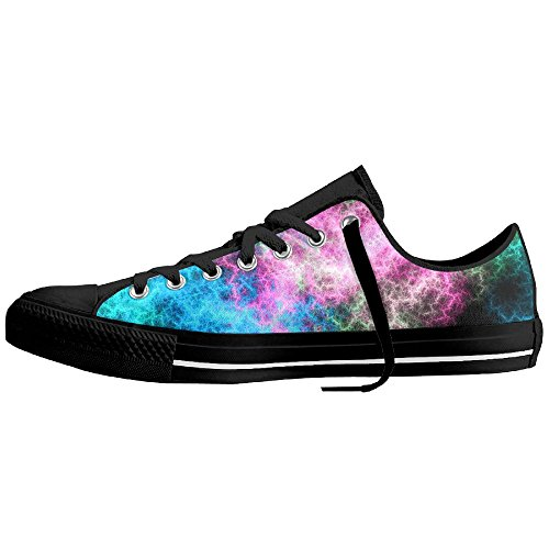Come On Baby Classic Swimming Canvas Shoes Print With Starry Sky For Men And Women
