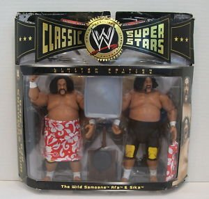 WWE Jakks Pacific Wrestling Classic Superstars Exclusive Series 3 Action Figure 2Pack The Wild Samoans Afa Sika (Superstars Wrestling Wwe)