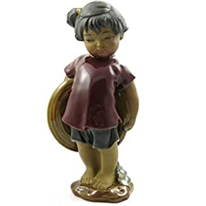 "Happy Bonsai Shy Little Girl 7.5"" Height"