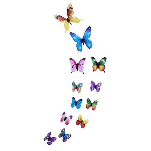 - iYBUIA 12 PCS 3D Luminous Butterfly Wall Stickers Decor Art Decorations