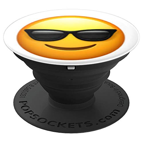 Emoji Smiling Face With Sun Glasses - PopSockets Grip and Stand for Phones and ()