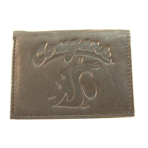 NCAA Washington State Cougars Tri-Fold Leather Wallet, ()