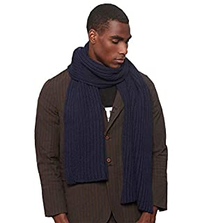 Men's blue knitted scarf