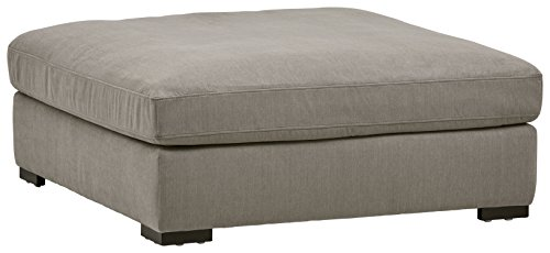 "Stone & Beam Lauren Down Filled, Oversized, Ottoman, 46.5""W, Slate"