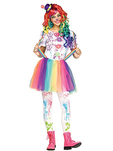 Crazy Color Clown Teen Costume - Teen Costumes