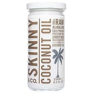Skinny & Co. 100% Raw Virgin Skinny Coconut Oil for Skin and Hair (8.5 fl oz)