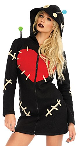 Leg Avenue Women's Cozy Voodoo Doll Costume, Black X-Large ()