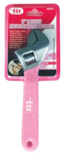 IIT 88050 Ladies Pink 6-Inch Adjustable Wrench by IIT
