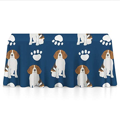 ant Dust-Proof Rectangular/Square Table Cloths - Beagles Paw Navy Blue Printed Table Decor, Square Or Round Tables Tablecloths for Wedding Catering Events, BBQ ()