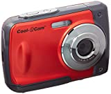 iON Cool-iCam 8MP Waterproof Digital Camera with 4x Digital Zoom and 2.4-inch LCD Screen (Red)