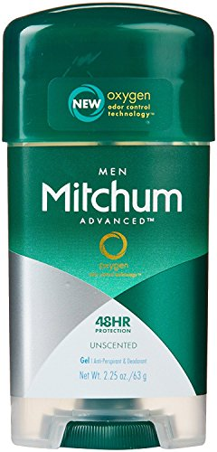 Mitchum Clear Gel Anti-Perspirant & Deodorant, Unscented for Men, 2.25 Oz (3 Pack)