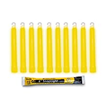 Cyalume SnapLight Industrial Grade Chemical Light Sticks, Yellow, 6-Inch Long, 12 Hour Duration (Pack of 10)