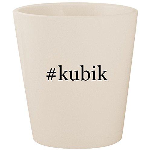 - #kubik - White Hashtag Ceramic 1.5oz Shot Glass