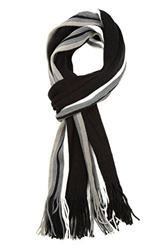 男式条纹彩针织冬季围巾只需$11.99!