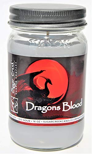 Sugar Creek Candles Dragons Blood (Just Like The Incense) 100% Soy Wax Candle. Soy Candles Burn Cleaner ~ Longer ~ Non-Toxic ~ The Original 100% Yinzer Made in USA. Gift for Any Occasion