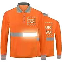 YOWESHOP Camiseta de seguridad de alta visibilidad con tira reflectante Polo de manga larga Personalizar logotipo con…