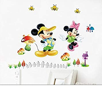 Naldesa Minnie Mouse Mickey Maus Wandsticker Wandtattoo Disney ...