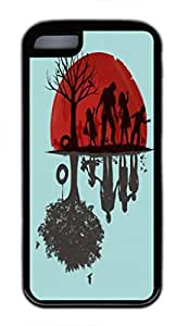 A Family Once Custom Personalized Design DIY Back Case for iphone 5c TPU Black -1210338