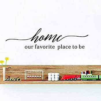 IARTTOP Home Our Favourite Place to Be Wall Decal Family Love Quotes Vinyl Wall Sticker Positive Lettering Sticker for Thanksgiving Sticker Home Decor
