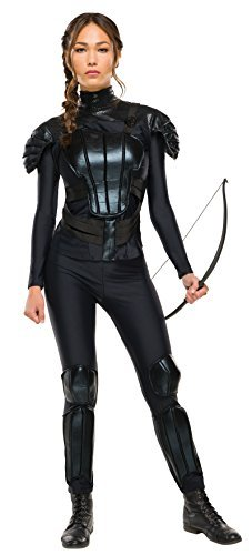 Hunger Games 2 Costumes (Katniss Everdeen Rebel (Hunger Games: Mockingjay Part 2) - Adult Costume Lady: M (UK:12-14) by Rubies)