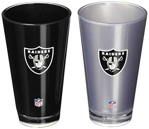 Nfl Oakland Raiders 20 Ounce Insulated Tumbler   2 Pack