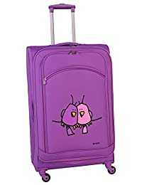 Ed Heck Big Love Birds Spinner Luggage 25-Inch, Purple, One Size