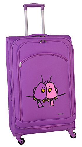 ed-heck-big-love-birds-spinner-luggage-25-inch-purple-one-size