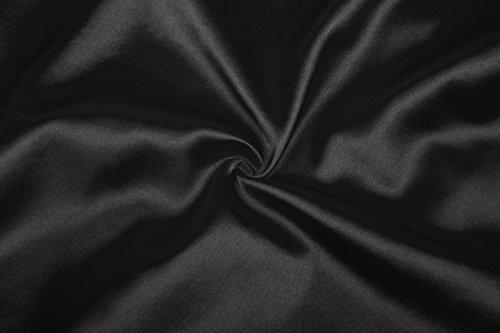Femmes Satin Lingerie Soie Vêtements De Nuit En Dentelle Champagne Kimono Robe De Nuit Robe Chemise De Nuit Noire Xl Xl
