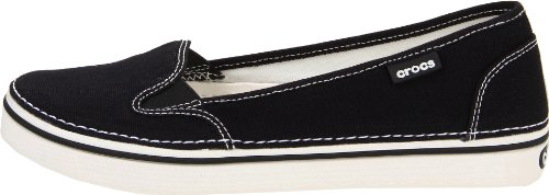 oyster Crocs Canvas Donna Slip Mocassini Black On YAEqnFr0Y