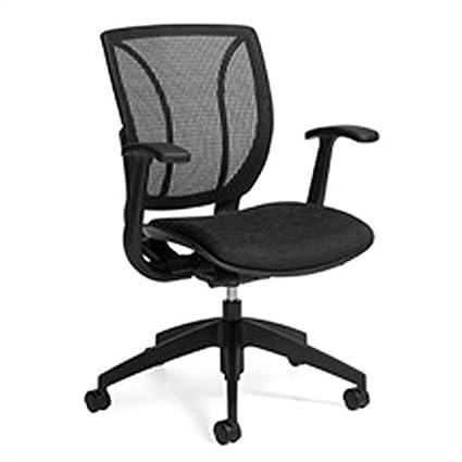 Amazon Com Global Roma Mesh Medium Posture Back Chair In Black