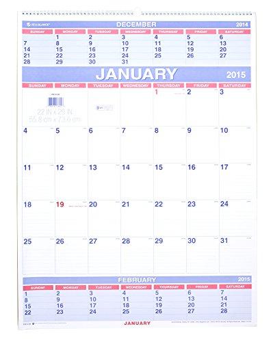 hree-Month Wall Calendar, 22 x 29, 2016 ()