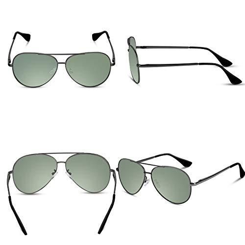 Polarizadas Aviador Protección sol UV400 por Gafas de Gun F Hombres Unisex de Gafas sol Hombre V101 Polarizadas Hombre Verde VVA Aviador w6PZX1qX