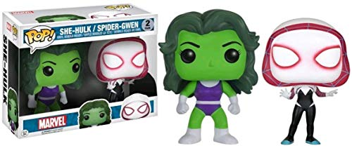 Funko - Figurine Marvel - 2-Pack She Hulk & Spider Gwen Exclu Pop 10cm - 0889698125178