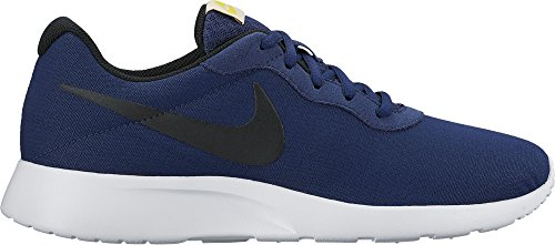 NIKE New Men's Tanjun Prem Sneaker Blue/Black/White (New Nike Sneakers)