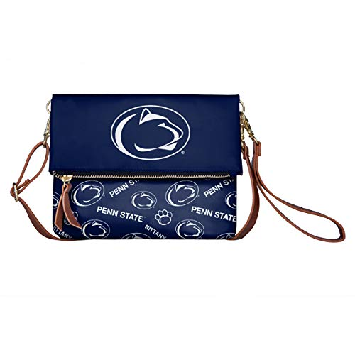 Penn Lions State Brass Nittany - FOCO NCAA Penn State Nittany Lions Womens Printed Collection Foldover Tote Bagprinted Collection Foldover Tote Bag, Team Color, One Size