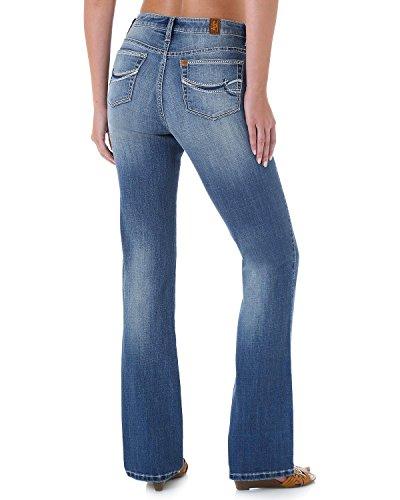 [Wrangler Women's Aura Instantly Slimming Stitch Pocket Jeans Denim 8 A] (Stitch Pocket Jeans)